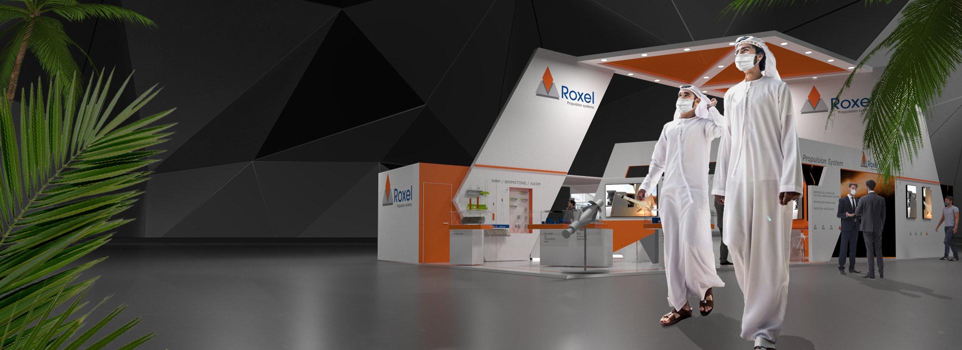 "Roxel @ <span style=""color: #F6672C;"">IDEX in Abu Dhabi</span>"
