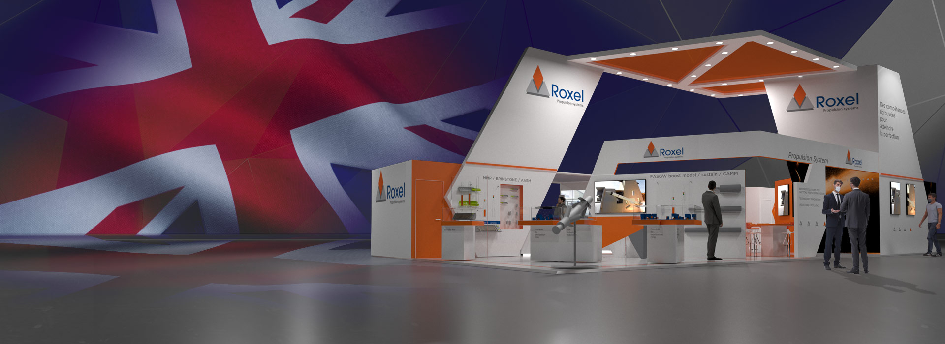 """Roxel @ <span style=""""color: #F6672C;"""">DSEI in London</span>"""